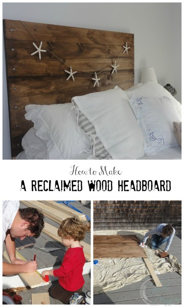 How to Make a Reclaimed Wood Headboard