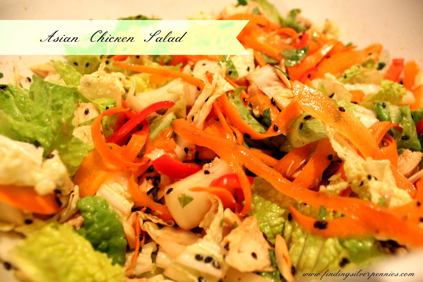 Fit Fridays: Asian Chicken Salad - Finding Silver Pennies