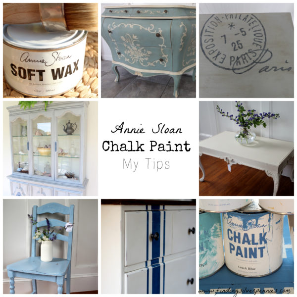 chalk furniture annie sloan dark wax my tips finding silver pennies