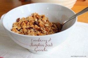 Home-Made Cranberry and Pumpkin Seed Granola