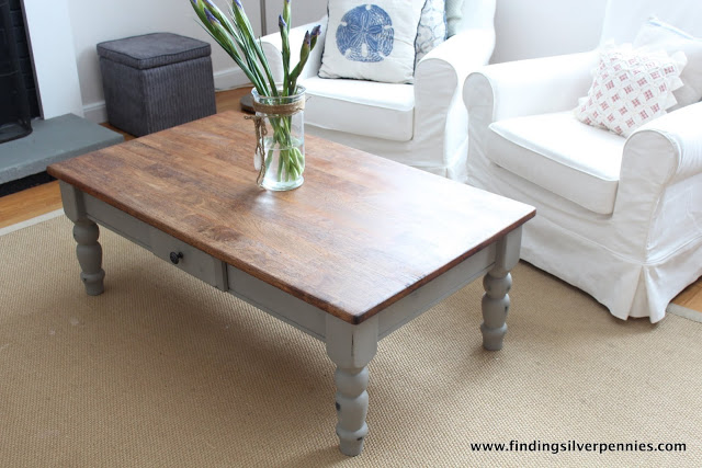 Pine Kitchen Table Makeover