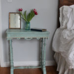 Crackled Bedside Table (Before & After)