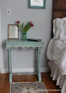 Crackled Bedside Table (Before & After)