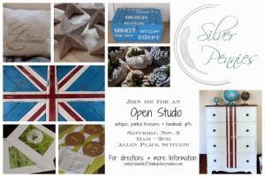 Finding Silver Pennies Open Studio – November 2nd!