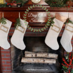DIY Drop Cloth Christmas Stockings