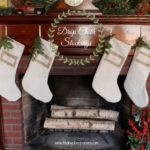 DIY Drop Cloth Christmas Stockings