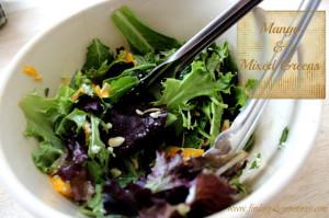 Mango and Mixed Greens