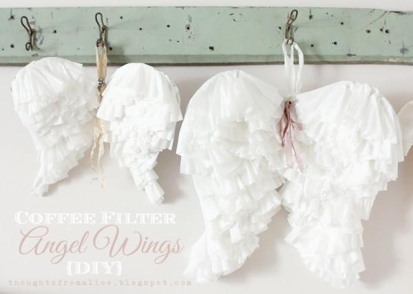 Coffee Filter Angel Wings DIY Tutorial