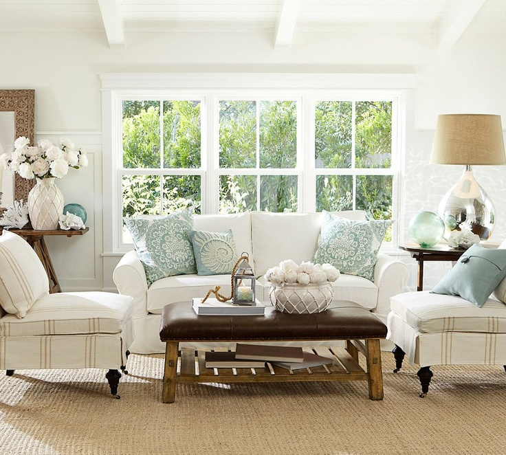 Pottery Barn Blue Living Room: Finding Silver Pennies