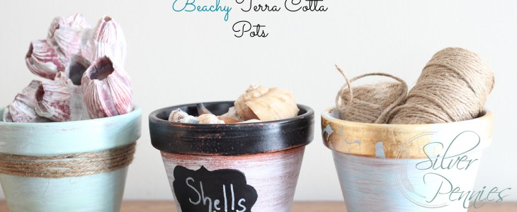 One Terra Cotta Pot, Three Beachy Ways & A Michaels/Hometalk Pinterest Party