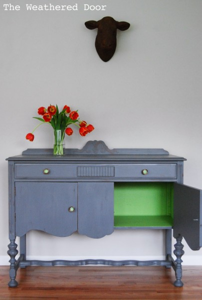 Grey and Green Buffet WD-6