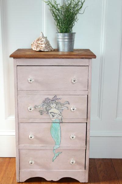 Mermaid Dresser (Before & After)