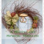 A Simple Spring Wreath