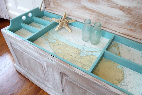 Nantucket Map Chest