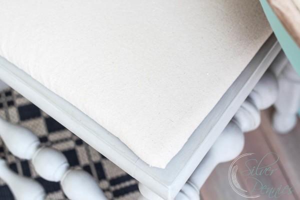 Close Up Drop Cloth Seat