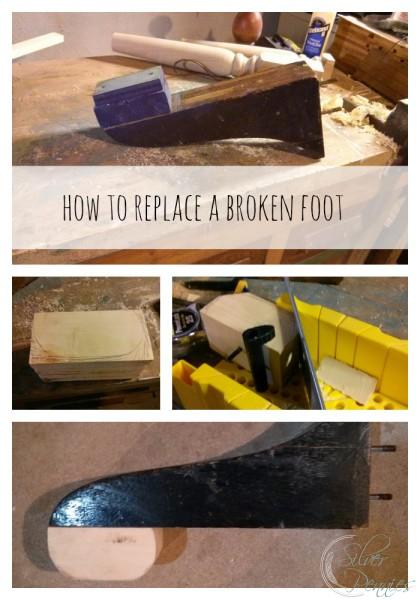 Collage Replacing Broken Foot