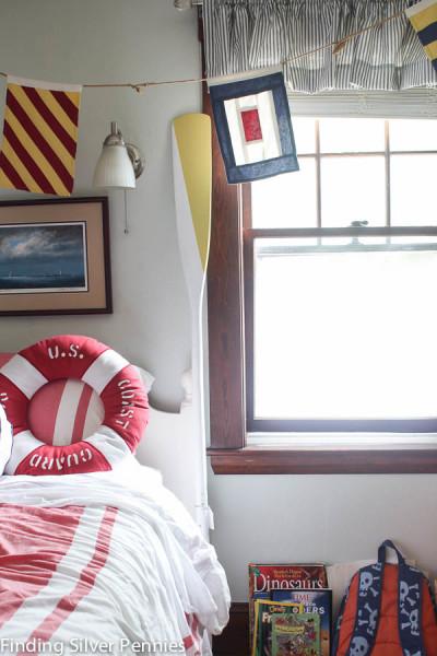 Painted Oar Nautical Bedroom