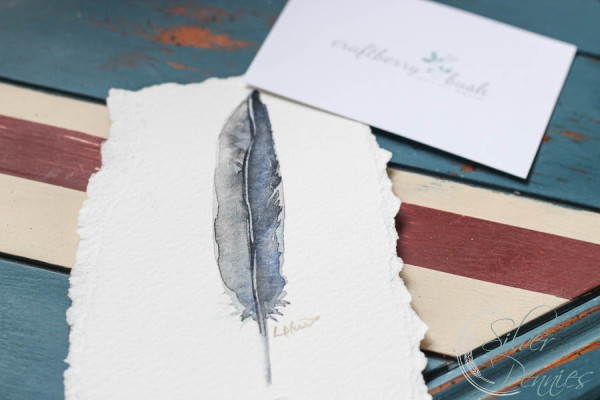 watercolor_feather_handpainted_table