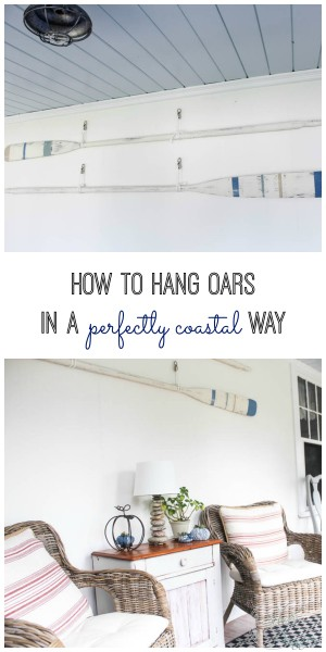 How to Hang Oars in a Perfectly Coastal Way