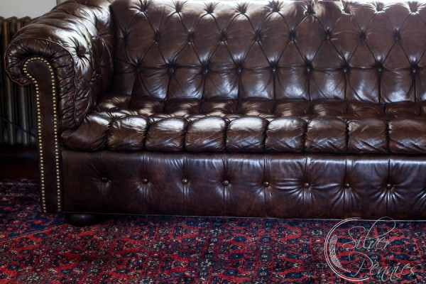 Oriental Rug and Leather