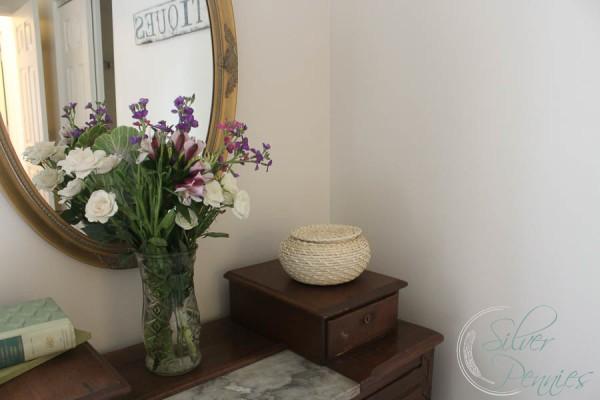 Vintage Mirror Flowers