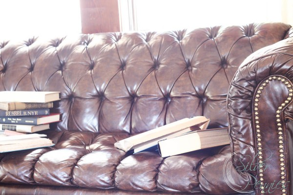 books and leather