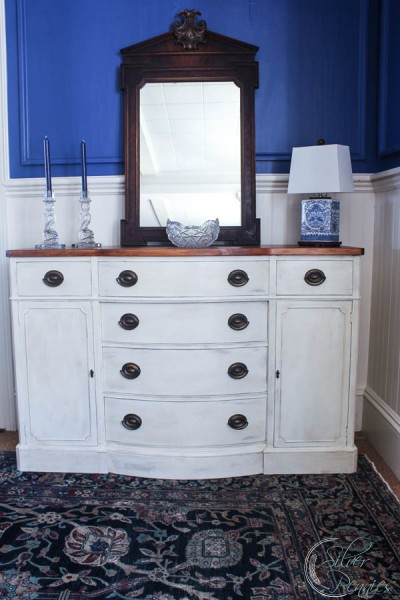 1950s Old White Buffet