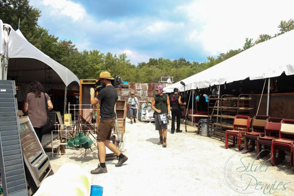 Brimfield and blogging friends finding silver pennies for Lara spencer flea market show