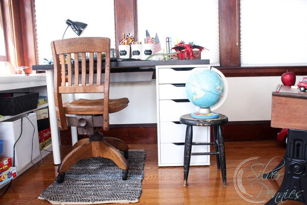 Ikea Desk and Vintage Chair