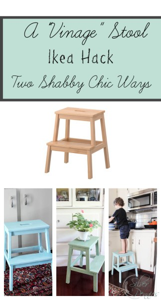 ikea hack creating a vintage stool finding silver pennies