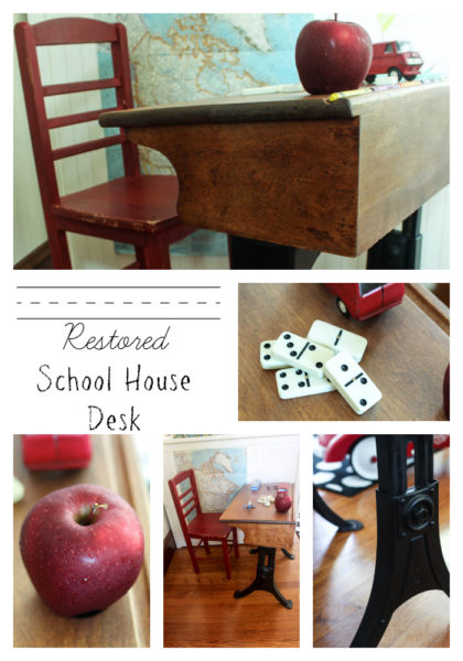Restored School House Desk