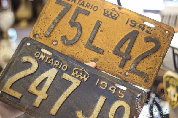 Vintage Canadian Plates