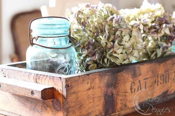 Ball Jars and Hydrangea