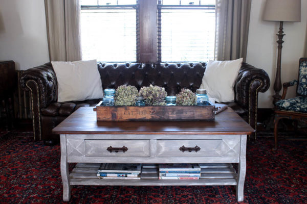 Chesterfield and RH Inspired Coffee Table