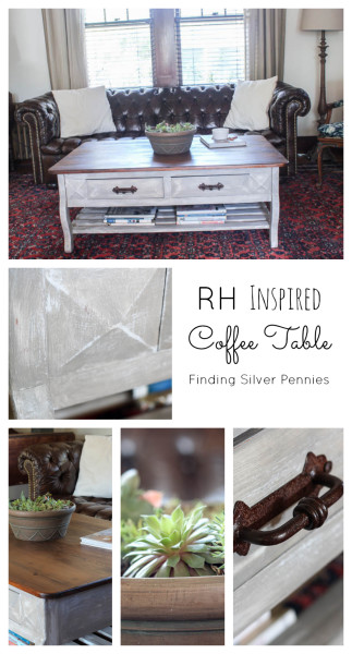 How to Paint a Restoration Hardware Style Coffee Table