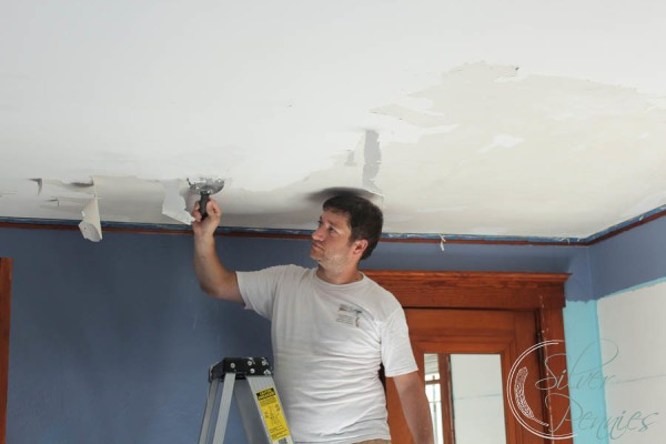 How To Paint Calcimine Ceilings Finding Silver Pennies