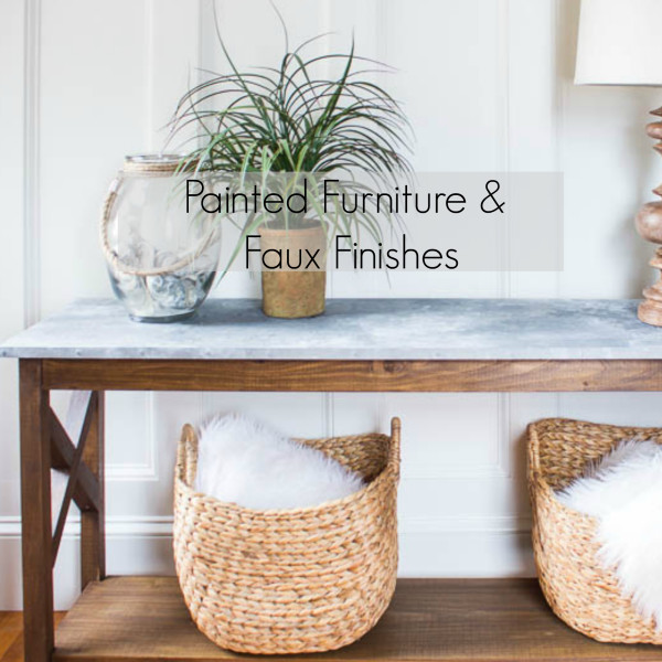 Painted Furniture and Faux Finishes