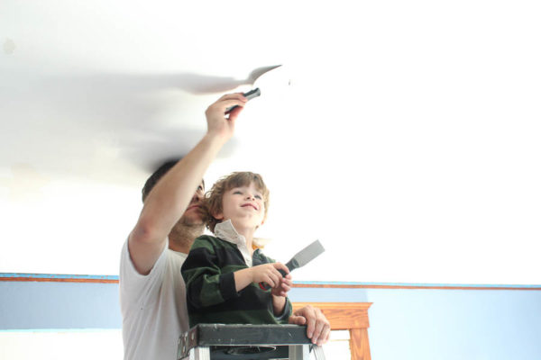 How to Paint Calcimine Ceilings