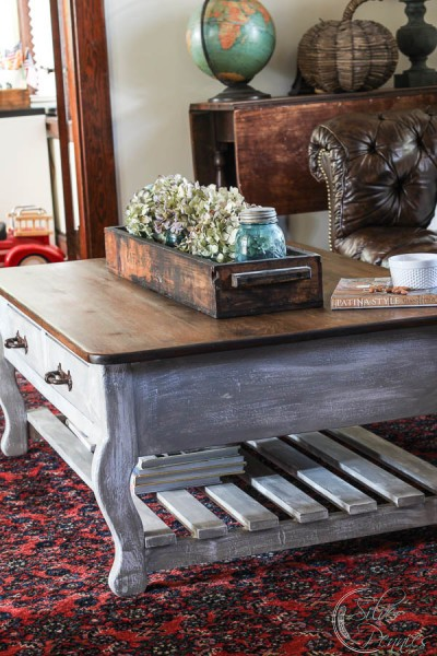 Side View RH Inspired Table with Industrial Crate