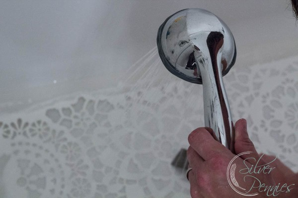 Cleaning Stencil in tub
