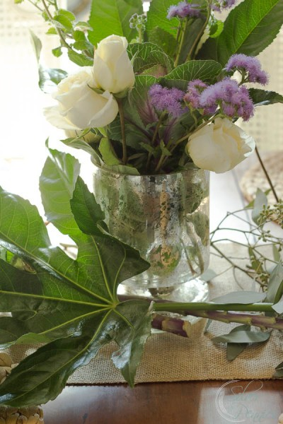 Flowers in Mercuyr Glass