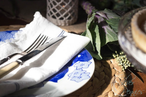 Japanese China and linen napkins