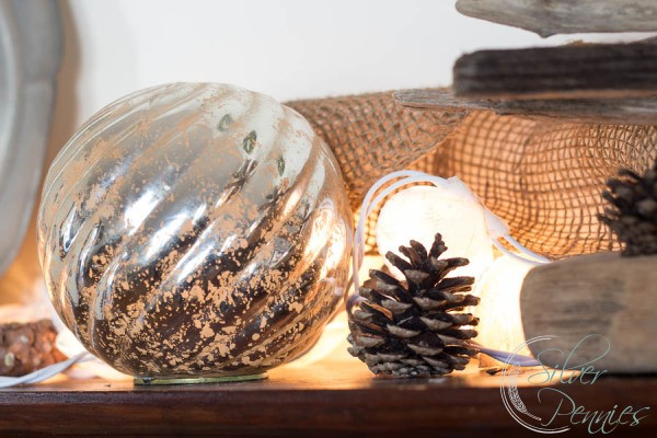 Mercury Glass and Pinecones