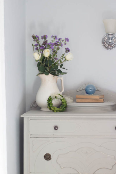 Muted Dresser with Flowers