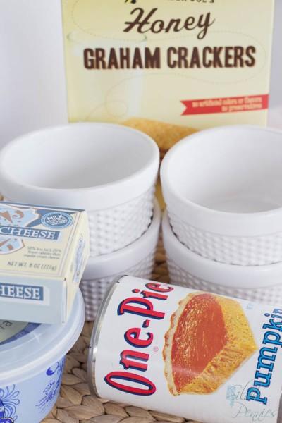 No Bake Pumkin Cheesecake Ingredients