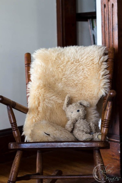 Old Rocking Chair with fur