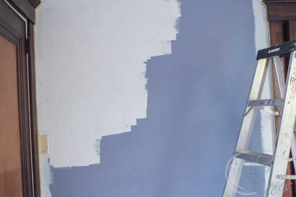 Painting Wall Glass Slipper