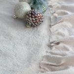 No Sew Drop Cloth Tree Skirt