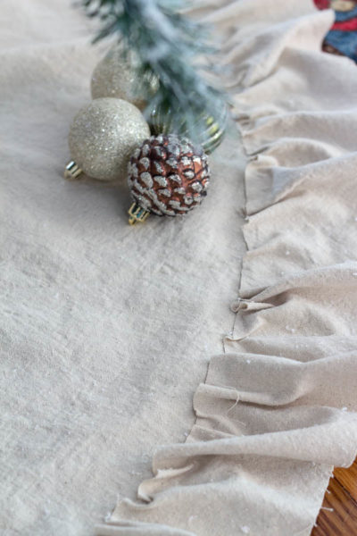 Ruffled Drop Cloth Tree Skirt