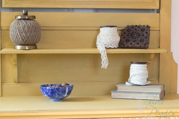 Shelves and ribbon